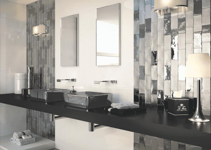 Amb Charm Cosmopolitan Blanco 700x500 1 1 | Azulejo Metalizado: Nueva Tendencia Para Baños De Lujo | Azulejos Metalizados