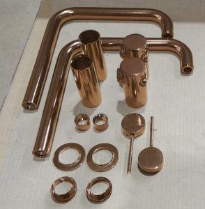 Copper Components 294x300 1 | La Elegancia Del Bronce Se Instala En La Grifería | Sanitarios